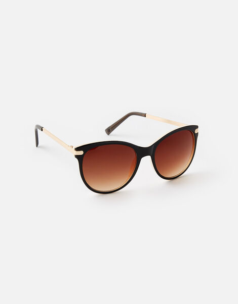 Rubee Flat-Top Sunglasses Brown, Brown (BROWN), large