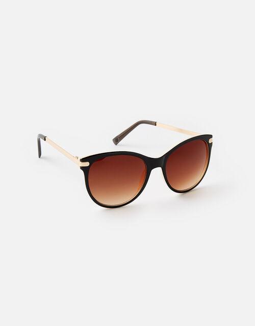Rubee Flat-Top Sunglasses, Brown (BROWN), large