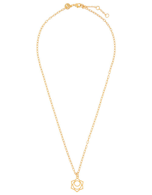 Gold-Plated Sacral Chakra Pendant Necklace, , large