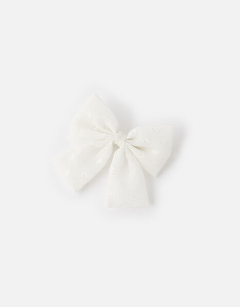 Polka Dot Bow Barette , , large