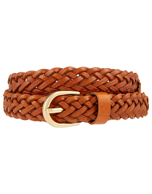 Plaited Belt, Tan (TAN), large