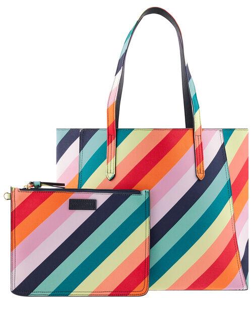 Reversible Rainbow Tote Bag, , large