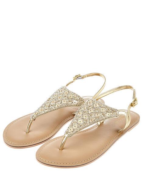 Athena Embellished Sandal Metalic, Metalic (METALLICS), large