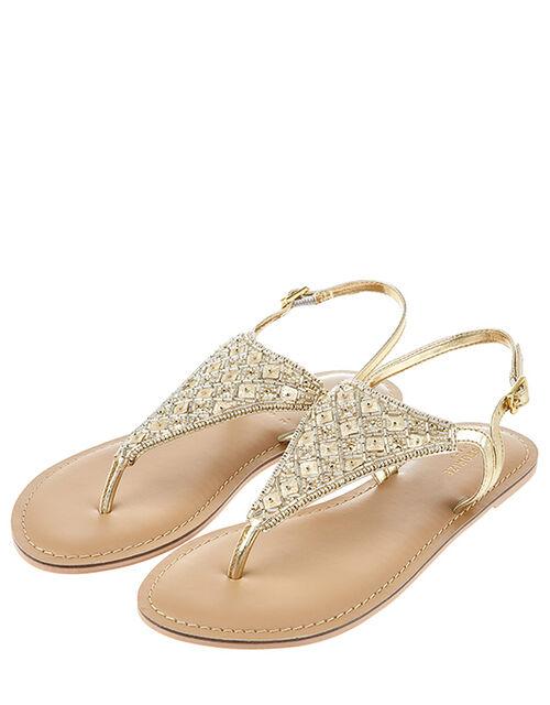 Athena Embellished Sandal, Metalic (METALLICS), large