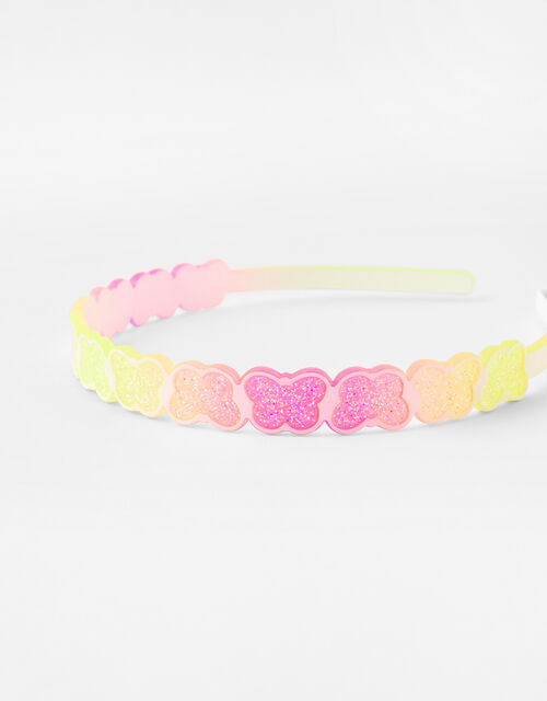 Glitter Butterfly Headband, , large