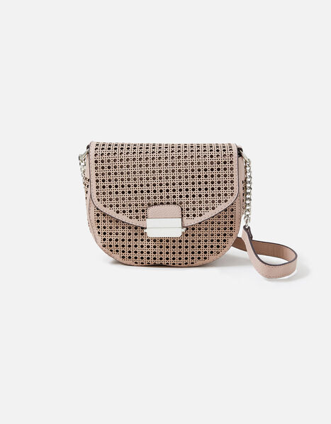 Punch-Out Cross-Body Bag Nude, Nude (NUDE), large