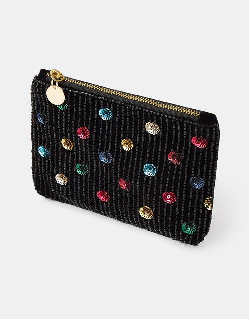 Embellished Polka-Dot Purse, , large