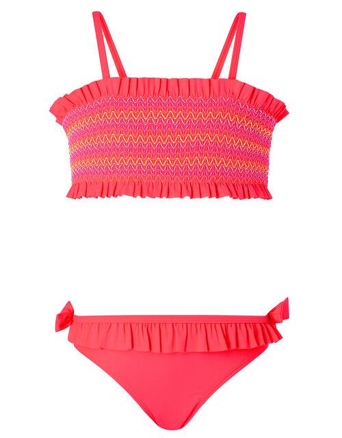 Smock Bandeau Bikini, Pink (PINK), large