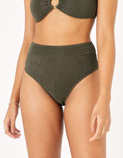 High Waist Bikini Briefs Green, Green (KHAKI), large