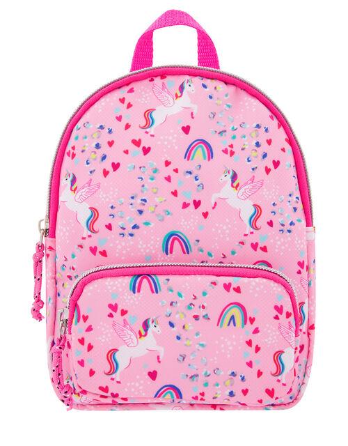 Retro Unicorn Printed Mini Backpack, , large
