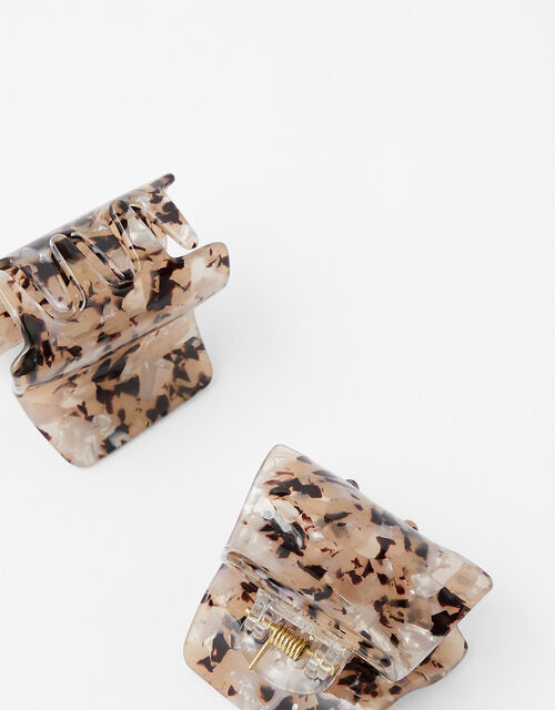 Medium Marble Bulldog Hair Clips, , large