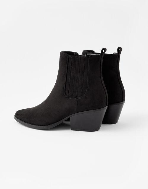 Western Ankle Boots, Black (BLACK), large
