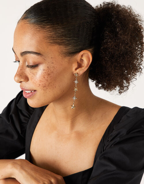 Sparkle Star Long Drop Earrings, , large
