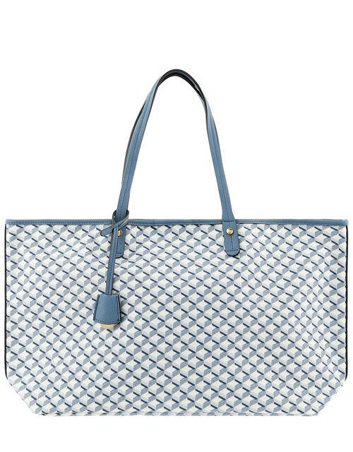 Geometric Print Tote Bag, , large