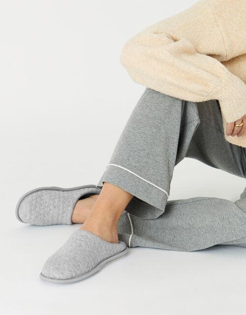 Bubble Stitch Slippers, Grey (GREY), large