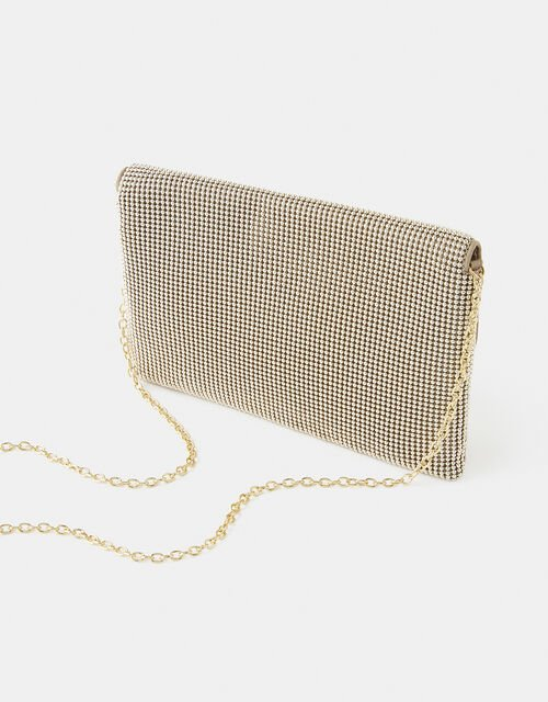 Embellished Envelope Clutch Bag, Gold (GOLD), large