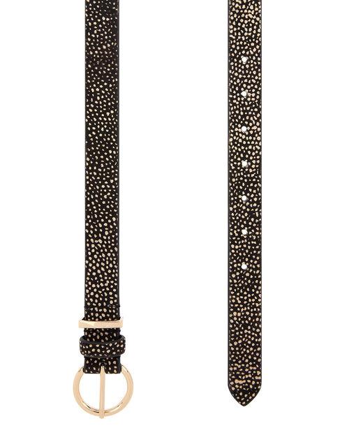 Animal Print Leather Belt, Multi (DARKS-MULTI), large