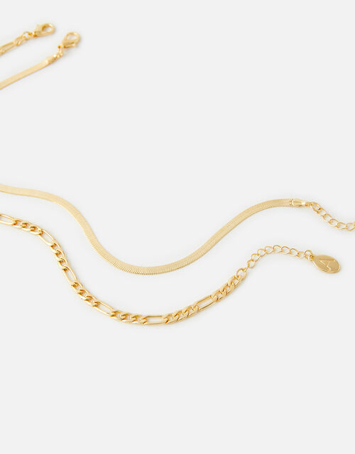 Snake Chain Anklet Set , , large