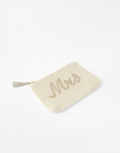 Mrs Beaded Pouch Bag, , large