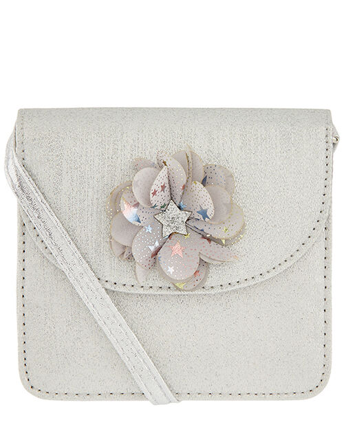 Glitter Corsage Cross-Body Bag, , large