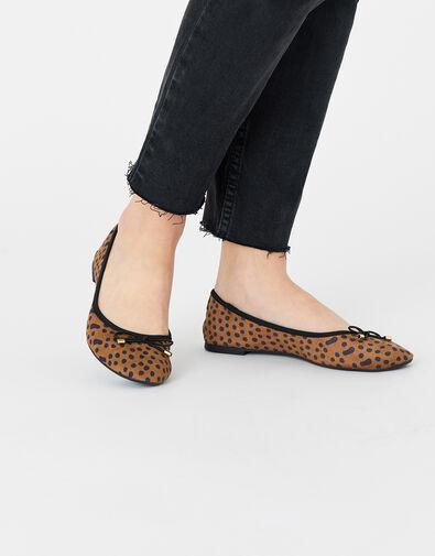 Leopard Ballerina Flats Multi, Multi (DARKS-MULTI), large