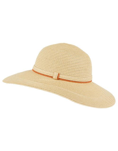 Striped Edge Floppy Hat, , large