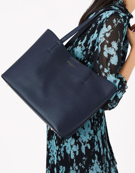 Leo Tote Bag Blue, Blue (NAVY), large