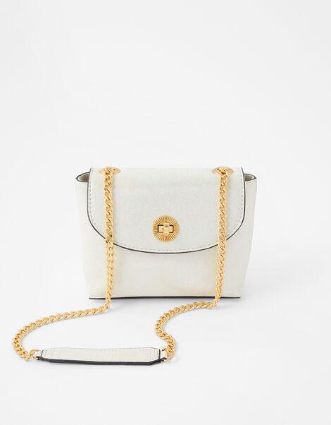 Mini Metallic Bag White, White (WHITE), large