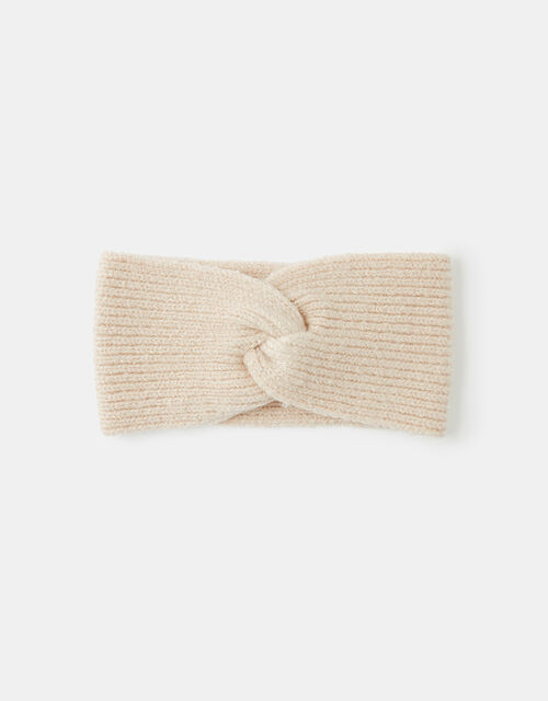 Knit Bando Headband, Natural (NATURAL), large