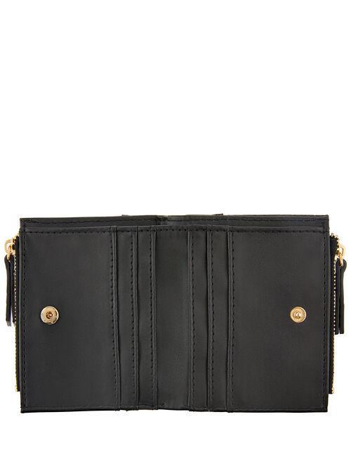 Croc Effect Bella Wallet, Black (BLACK), large