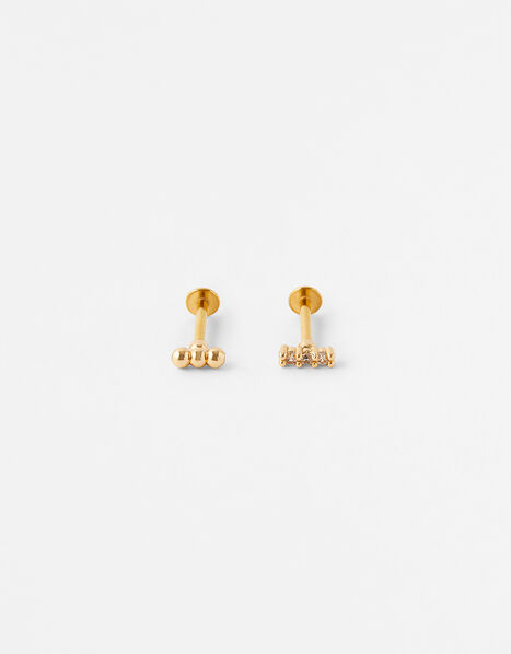 Sparkle Bobble Flat-Back Stud Set, , large