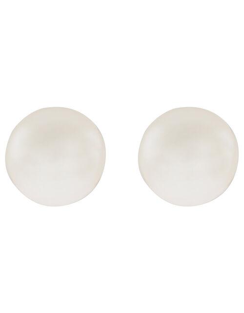 Sterling Silver Freshwater Pearl Stud Earrings, , large
