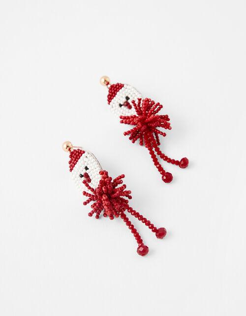 Beaded Santa Earrings, , large
