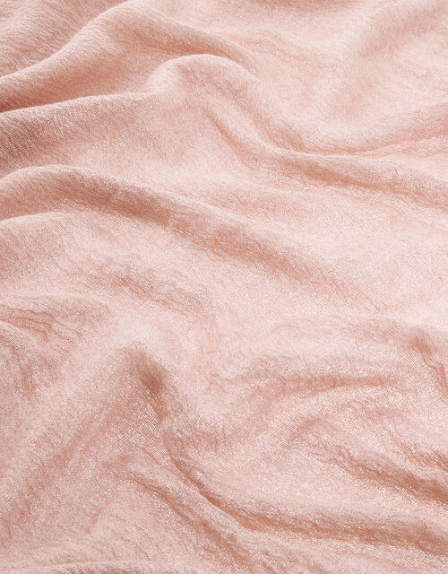 Metallic Lightweight Scarf, Pink (PALE PINK), large