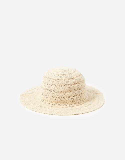 Broderie Packable Hat, Cream (CREAM), large