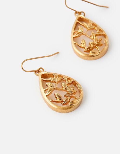 Leaf Teardrop Earrings, , large