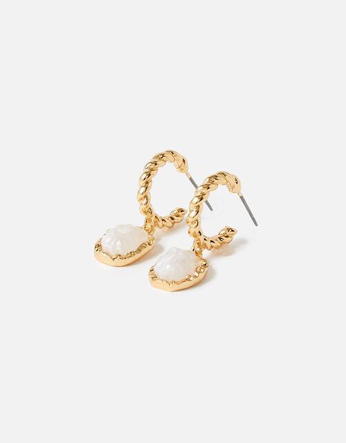 Country Retreat Twist Stone Drop Earrings , Pink (PINK), large