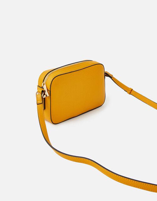 Piper Camera Croc Cross-Body Bag , Yellow (OCHRE), large