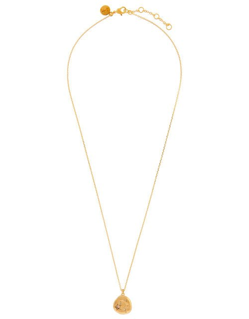 Gold-Plated Opal Zodiac Necklace - Libra, , large