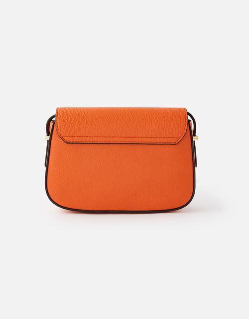 Ruby Saddle Cross-Body Bag , Orange (ORANGE), large