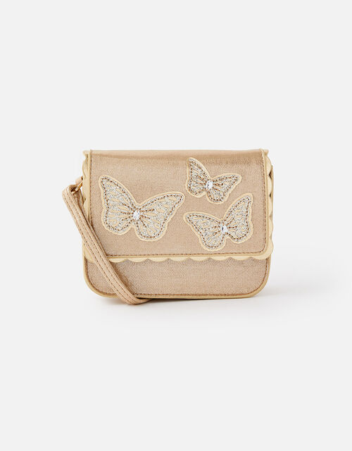 Sparkle Butterfly Cross-Body Bag, , large