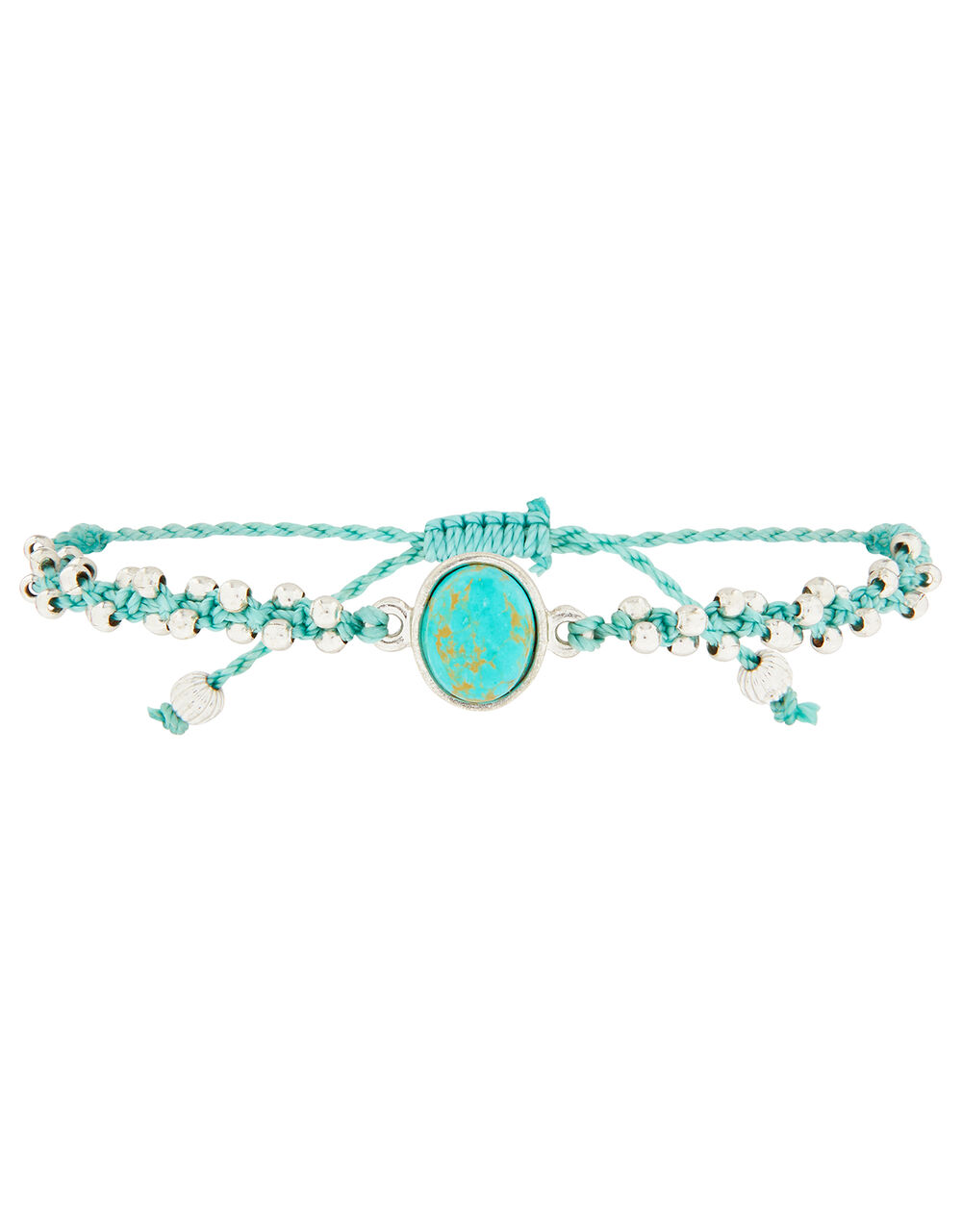 Turquoise Stone Beaded Friendship Bracelet, , large