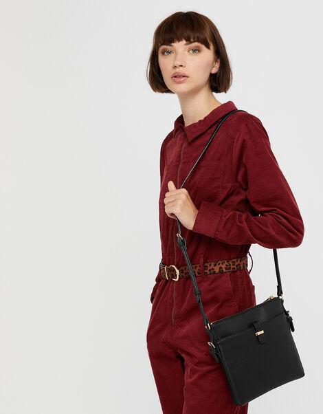 Modern Messenger Bag Black, Black (BLACK), large