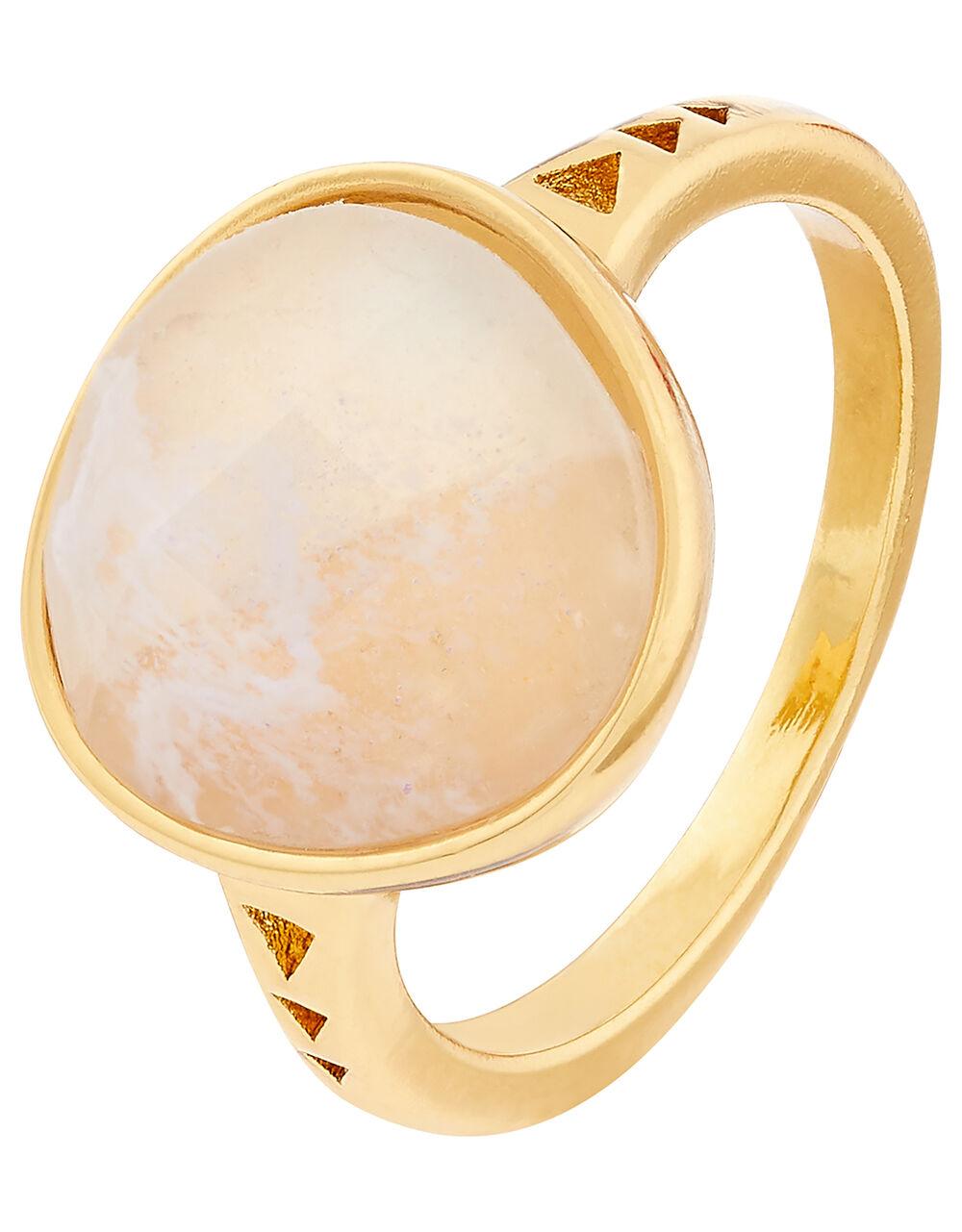 Healing Stones Clear Quartz Ring, White (WHITE), large