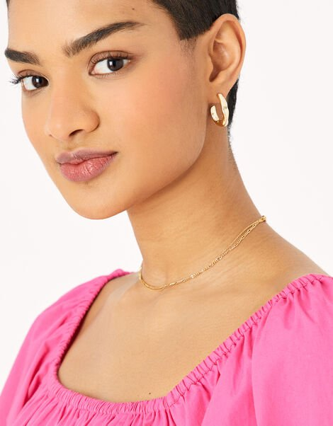 Textured Graduated Small Hoops, , large