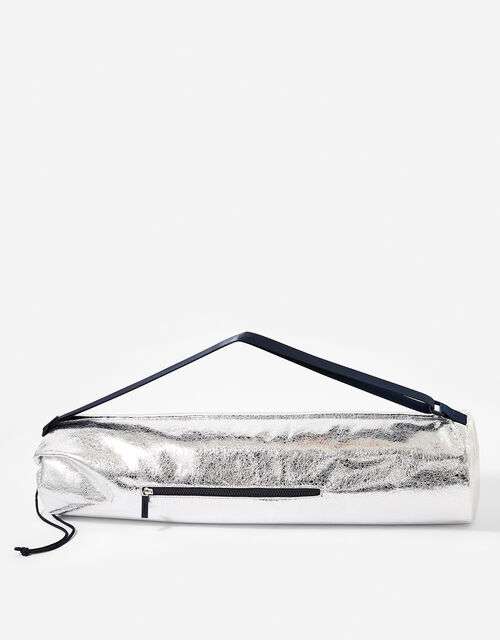 Yoga Mat and Carry Bag, Silver (SILVER), large