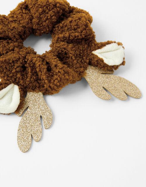 Rudolph Teddy Hair Scrunchie, , large