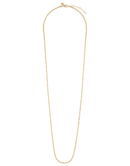 Gold-Plated Ball Chain Necklace, , large