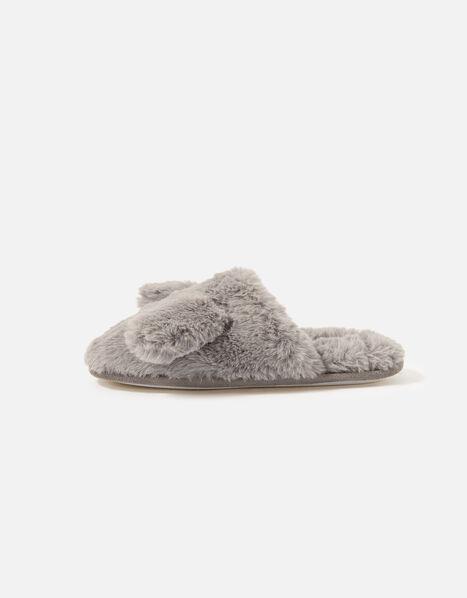 Puppy Fluffy Mule Slippers Tan, Tan (TAN), large
