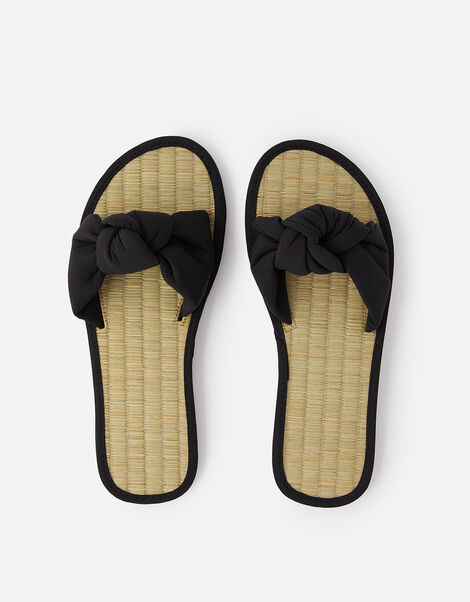 Knot Seagrass Sliders Black, Black (BLACK), large